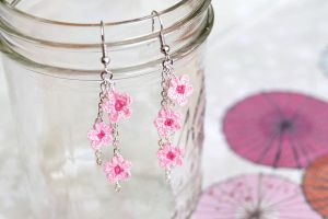 Cherry Blossom Earrings by TheBittiestBaubles