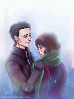 Loki x Darcy - 'It's Cold Out Here' by riotfaerie