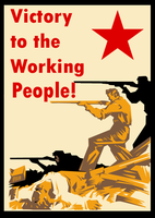 Victory to the workers Poster by Party9999999