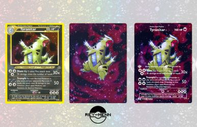 Custom Tyranitar Card by rey-menn
