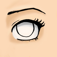 My uncolored anime eye. by unicornlover69