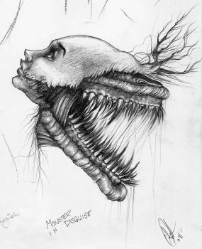 Monster in Disguise Sketch by Carliihde
