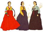 Women's Hanbok Color by Glimja