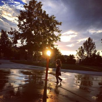 Sunset on the Splashpad by alena