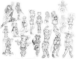 Character Sketches by freeminds