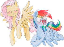 Flutters and Dashie by SweetieOrange
