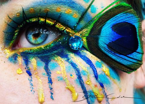 The eye of the peacock by PixieCold