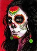 Day of the Dead ACEO by youngmoons