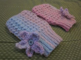 Pink Sands Mossy Mitts by PamGabriel
