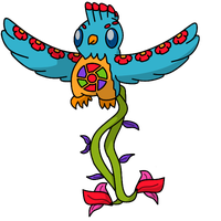 Fakemon #3: Quetzplendant by Draggaco