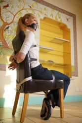 Belted to the chair by 3may5sq1