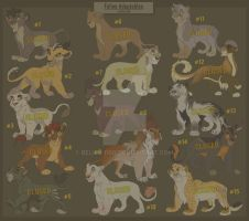 Big cat Adoptables - CLOSED by Belka-1100