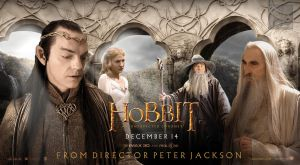 The Hobbit White Council fan quad poster by crqsf