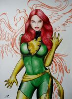 Jean Grey Phoenix by sidneydesenhus