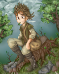 Alfyn from Octopath Traveler by SaphireDoodles