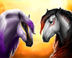 Nessie and Searus by Myval-miki