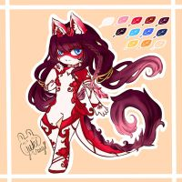 [Comm] Summer Faerin Design for Hanekko 2 by xXYukiNoUsagiXx