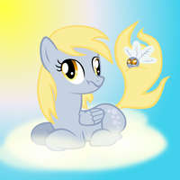 Derpy and Her Parasprite by jrk08004