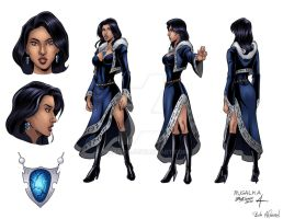 Model Sheet - Rusalka by derango