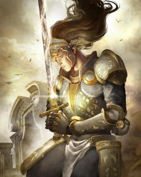 Prayer paladin by Elle-Shengxuan-Shi