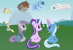 Kite Flying With Friends by Hypnopony