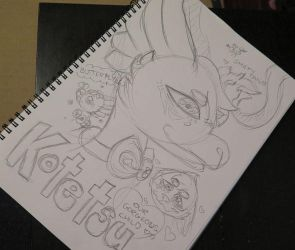 Kotetsu Baby Sketch Page 1 by Etrenelle