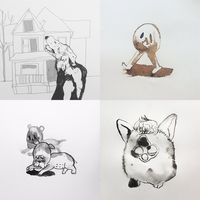 Inktober Days 1-4 by Uw0