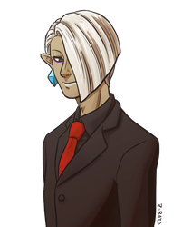 Ghirahim in a Suit by Z-Raid
