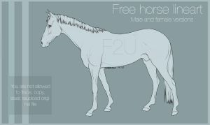 Horse Lineart 001 |F2U| by HorRaw-X