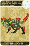 Arecacen Creature Cards: Feather Croc by Chikara-Redwing