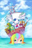 Shipwrecked Rainbow by camilladerrico