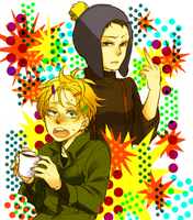 Tweek and Craig(Girl) by denmeka