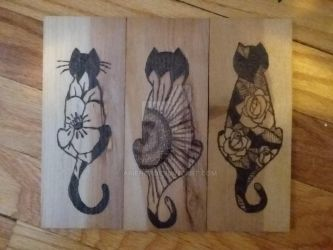 3 cats by arien87