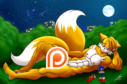 Tails Trying To Be Sexy by Juacamo