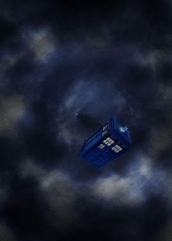 TARDIS in the Time Vortex by KendraFitz