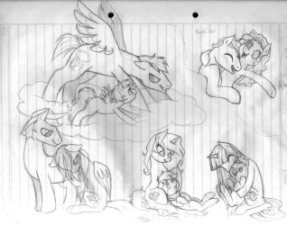 Children of the Mane 6...Sketch... by LinaPrime