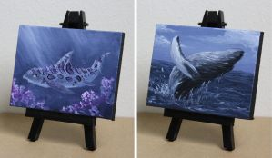 Mini Shark and Whale 5 and 6 Aug2017 by crazycolleeny