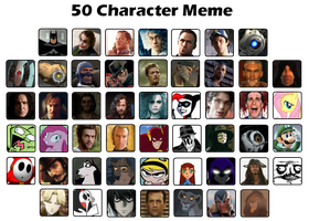 50 Characters Meme by SW101