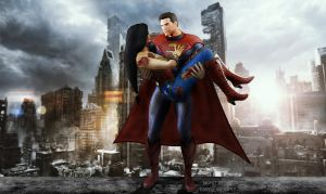 Superman and Wonder Woman by Darkslayer092