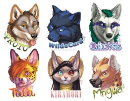 Recent Rough Shaded Badges by GoldenDruid