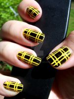 Yellow - Black Tartan by ViiviASD