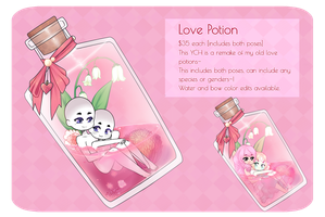 Love Potion YCH : OPEN by LucciolaCrown