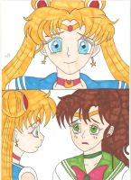 Sailor Moon - We'll save him together by Tyrannuss555