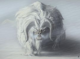 Wooly Arctic Dragon by rob-powell