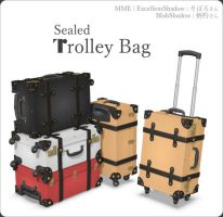 Trolley suit case bag MMD Download by Hack-Girl