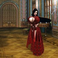 Red Gown Request by Aliecia-Lionheart