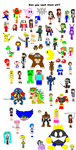 Try to spot all the characters by MetalGearTom