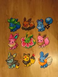Eevee fusions by MagicPearls