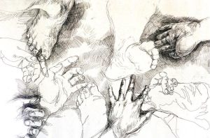 Hands and Feet (2001) by La-Nora
