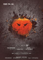 Halloween Poster Flyer PSD by DusskDeejay